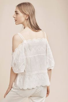 Slide View: 3: Amabel Open-Shoulder Blouse
