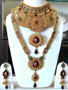 Gold Full Bridal Choker Set Rs 23160