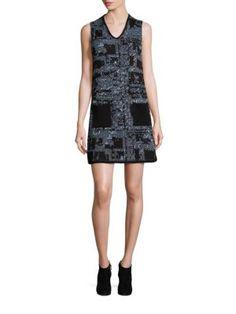M MISSONI Metallic Tweed Shift Dress. #mmissoni #cloth #dress