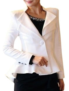 Nifty Lapel High-low Falbala Plain Blazers Only $19.51 USD More info...