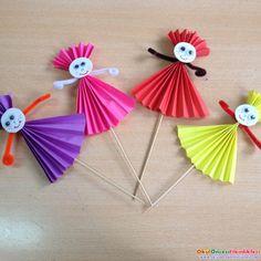 Animal Crafts For Kids, Spring Crafts For Kids, Art Activities For Kids, Paper Crafts For Kids, Summer Crafts, Craft Stick Crafts, Toddler Crafts, Diy For Kids, Arts And Crafts
