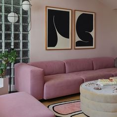 ROSE QUARTZ, warm pink with gray paint color by Backdrop. Pink Couch, Blue Couches, Pink Paint Colors, Gray Paint, Canvas Drop Cloths, Painting Services, Blue Walls, Interior Paint