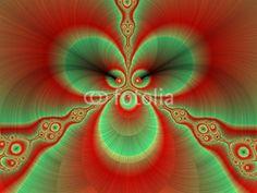 Red and deep petals design, fractal