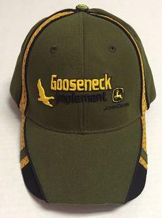 Gooseneck Implement Hat John Deere The Power Behind The Paint North Dakota ND #StevickBusinessForms #BaseballCap