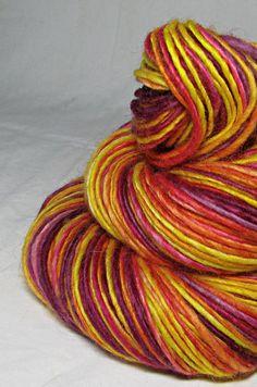 Handspun Yarn Gently Thick and Thin Single by SheepingBeauty, $36.00