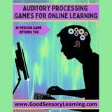 Auditory Processing Games for Online and In-Person Sessions was created for learners with weak auditory processing skills, so they can reach master this needed skill while having fun. #auditoryprocessing Teaching Language Arts, Speech And Language, Auditory Processing, Receptive Language, Working Memory, Emotional Regulation, Executive Functioning, Early Literacy, Help Teaching