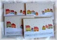 Vánoční přání...domečkové | Moje scrapbookové nebe