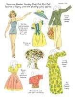 Lucy Eleanor Leary's Suzanne & Estelle-Cardstock * 1500 free paper dolls The International Paper Doll Society @QuanYin5 #QuanYin5 Arielle Gabriel artist *