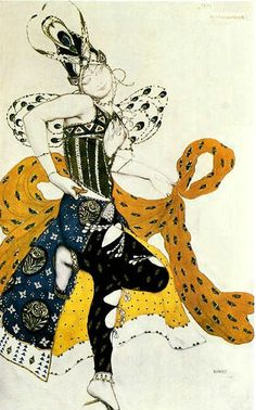 costume design for 'La Péri' by Leon Bakst. A member of The World of Art Movement