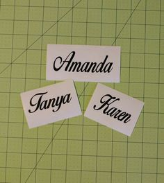Personalized Name Decal  - 110F by DesignsByLaurieann on Etsy