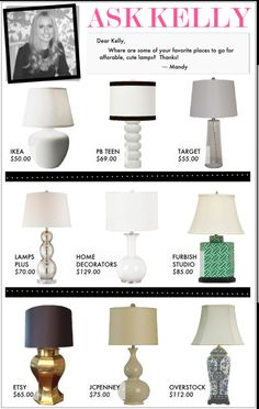 Affordable cute lamps!
