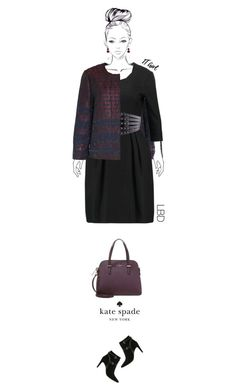 Office outfit: Black - Marsala by downtownblues on Polyvore #officewear  #lbd #abstractprint  #tote  #ankleboots  #KateSade #michaelkors  #Hallhuber #MaxandCo