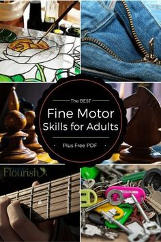 Get some new ideas with this HUGE list of fine motor activities when working with adults | http://SeniorsFlourish.com #OT #geriatricOT