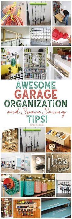 So many awesome DIY garage organization ideas. I needed these! Garage Organization Tips, Diy Garage Storage, Life Organization, Garage Ideas, Pegboard Storage, Workshop Organization, Household Organization, Attic Storage, Fence Ideas