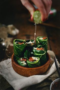 Beans stuffed in Collard Wraps » V.K.Rees Photography