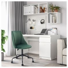 Home Office Chairs, Home Office Space, Home Office Design, Home Office Decor, Home Decor, Ikea Office Chair, Office Desks For Home, Pink Home Offices, Small Office Chair