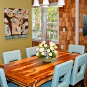 Judy Paulu0027s Open Order II Printed On Canvas Adorns This Dining Area Create  By Extreme Makeover. Retro Color PaletteDining Room ArtDining AreaKitchen  Wall ...