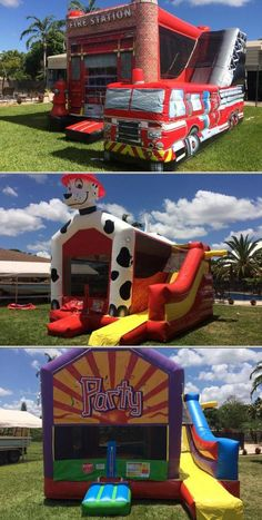 School Bus Bounce House Back To School Party Back To