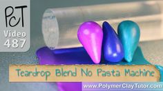 M Make Easy Skinner (Teardrop) Blends with no Pasta Machine