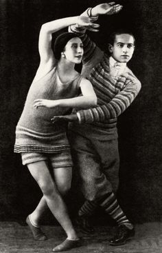 The Ballet Russes' Lydia Sokolova and Leon Woizikovski in Le Train Bleu, 1924. Costumes by Chanel.