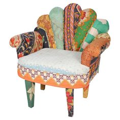 Peacock Arm Chair from Whimsy & Wanderlust at Joss and Main! Love the shape, the upholstery less so.
