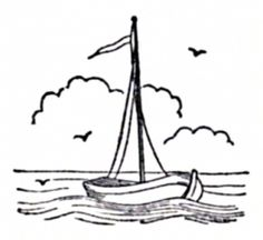 Historical Sailing Ships and Boats Coloring Pages Embroidery Online, Hand Work Embroidery, Paper Embroidery, Hand Embroidery Patterns, Embroidery Stitches, Coloring Book Pages, Coloring Sheets, Ship Drawing, Drawing Art