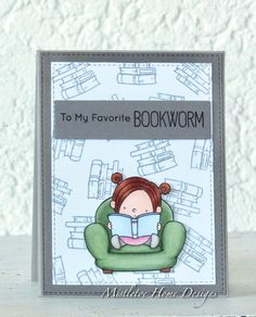 MFT (My Favorite Things) Our story - card for a little bookworm