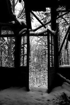 freshly fallen snow at abandoned sanatorium. Lost Place Urban Exploration https://www.facebook.com/ForgottenHideaways Copyright by ForgottenHideaways