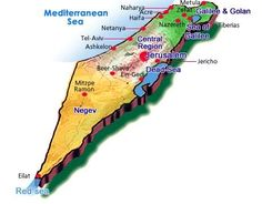 How Big Is Israel? Some people don't realize how small Israel really is. It is only about 200 miles (322 kilometers) long and about 50 miles (80 kilometers) wide. It's possible to drive all over Israel in a day. In your drive you would see deserts, snow peaked mountains, fertile farm land, lush river valleys, beautiful beaches, rivers, and waterfalls. But most of all you'd see the land of the Bible. Everywhere you turn you see something that you've read about in the Bible!