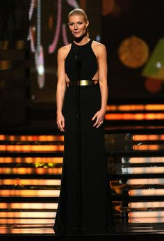 it does go a very long way on #Gwyneth Paltrow @Grammy's her Stella McCartney black racerback dress with simple gold belt left me stunned, she is happy in her own skin and introducing Adele she was amazing