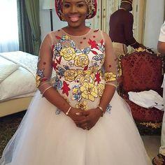 So beautiful sweetness014 Ankara inspired gown by badaskyfashionhouse verycreative weddingdigestnaijahellip