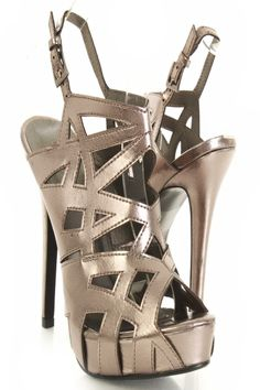 Pewter Faux Leather Strappy Cut Out Peep Toe Platform Heels $20.99 http://www.amiclubwear.com/shoes-heels-ttf-cecilia-04pewter.html#