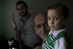 A Syrian #refugee family gathers in their home in a #Cairo suburb. Photo by Sima Diab