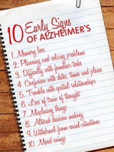 Early diagnosis is extremely crucial with Alzheimer's. Check out these 10 early signs and symptoms!