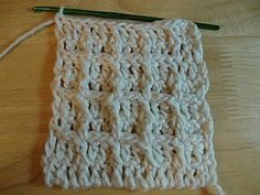 Waffle weave tutorial. Perfect for wash cloths.