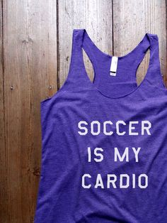 Suzy Squats funny soccer tank top, perfect to wear during your next soccer practice or as a gift for a soccer loving friend! You can find more funny workout clothing for soccer at the Suzy Squats store by clicking the link above.