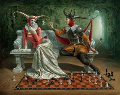 Michael Cheval • illusion surreal art painting