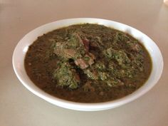 Lamb Saag in the slow cooker.