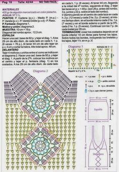 Crochê Gráficos: Regata verde