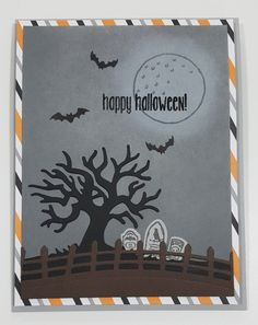Stampin Up Spooky Fun & Halloween Scene Edgelits