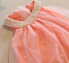 baby girls dress sleeveless dot white pink lace princess dress