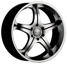 "Core Racing Stealth S/S - Gloss black with machined face and lip.  Available in 20"" and 22"".  Starting at $270.99.  http://www.coreracingwheels.ca/  #suv #truck #wheel #rim"