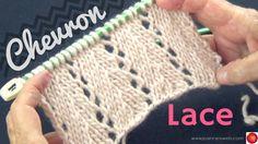 Chevron Lace Knit Stitch