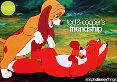 Tod and Cooper's friendship<3 FAVORITE KID MOVIE <3333333