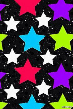 Colorful Stars on Black