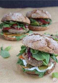 Salmon Burgers, Ethnic Recipes, Fitness, Food, Diet, Essen, Meals, Yemek, Eten