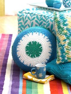 Spiky Stripe Pillow | Yarn | Free Knitting Patterns | Crochet Patterns | Yarnspirations
