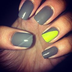 Modern simplicity. Grey with a touch of neon green.