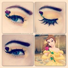 Amazing Disney Inspired Makeup Prince Of The Forest Guff - Check Out Some Disney Inspired Makeup How To Make Makeup On Beautiful Women Make Up On Disney Dess Up Makeup Styles And Various Disney Makeup Looks Disney Eye Makeup, Disney Inspired Makeup, Belle Makeup, Disney Princess Makeup, Princess Belle, Crazy Makeup, Pretty Makeup, Makeup Looks, Make Up Art