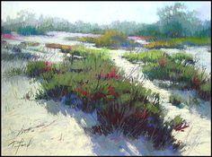Terri Ford PASTEL Pastel Landscape, Abstract Landscape, Landscape Paintings, Pastel Drawing, Pastel Art, California Art, Paintings I Love, Beach Art, Sculpture